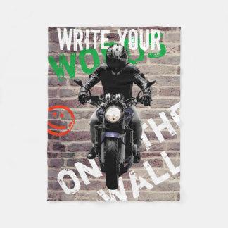 Motorrad-umfassendes Backsteinmauer fCustom Fleecedecke