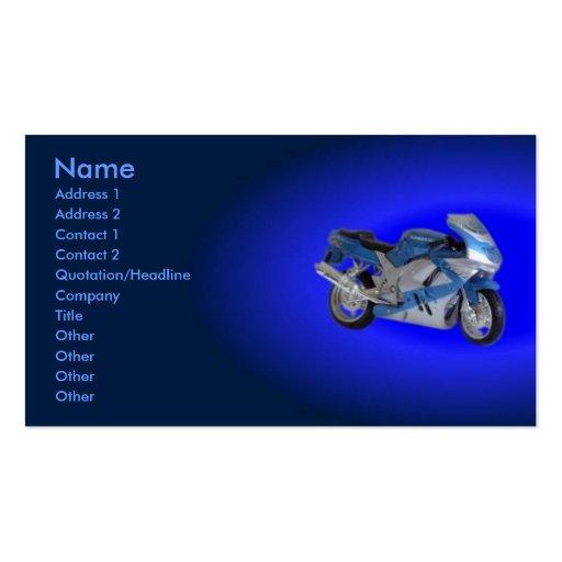Motorrad-Visitenkarte