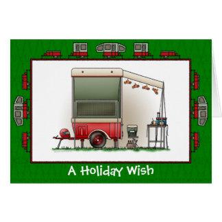 Motorrad-Wohnwagenanhänger-Feiertags-Wunsch Karte