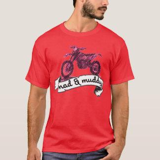 Motorrad wütend u. schlammig T-Shirt