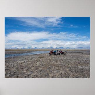 Motorräder in Kirgisistan Poster