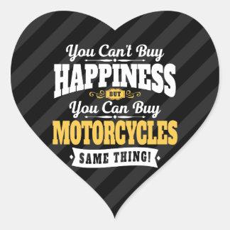 Motorradfahrer-Neigungs-Kauf-Glück kann Motorrad Herz-Aufkleber