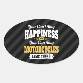 Motorradfahrer-Neigungs-Kauf-Glück kann Motorrad Ovaler Aufkleber