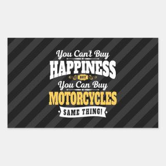 Motorradfahrer-Neigungs-Kauf-Glück kann Motorrad Rechteckiger Aufkleber