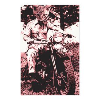 Motorradkatze Briefpapier