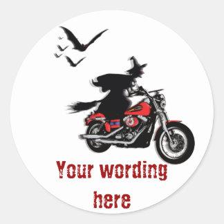 Motorradreithexeaufkleber - fertigen Sie besonders Runder Sticker