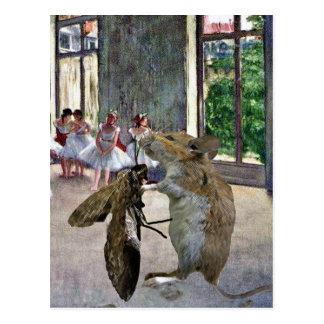 Motten-und Mäusekotillon Postkarte