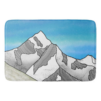 Mount Everest-Linie Kunst-Aquarell Badematte