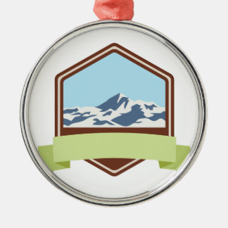 Mount Everest Silbernes Ornament