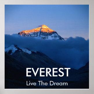 Mount Everest-Sonnenuntergang-Plakat Poster