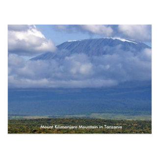 Mount Kilimanjaro-Berg im Tansania-Plakatspaß Postkarte