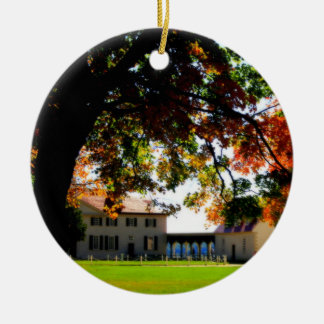 Mount Vernon-Verzierung Rundes Keramik Ornament