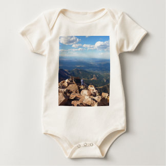 Mountain View an der Spitze der Spiess-Spitze Baby Strampler