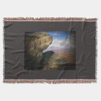 Mountain View übersehen Wurf Decke