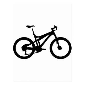 Mountainbike bicylce pushbike postkarte