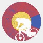 Mountainbike Colorado Runder Aufkleber