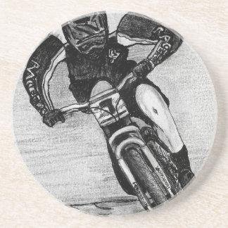 Mountainbike-Fahrt Sandstein Untersetzer