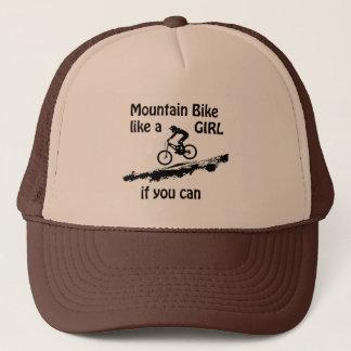 Mountainbike mögen ein Mädchen Truckerkappe