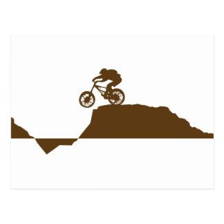 Mountainbike Postkarte