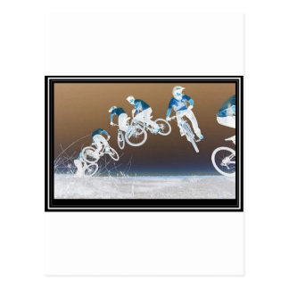 Mountainbike-Reihenfolge Postkarte