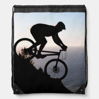 Mountainbike-Reiter. Löwe-Kopf, Cape Town Sportbeutel