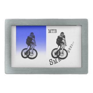 Mountainbiker MTB BMX RADFAHRER Aufkleber Rechteckige Gürtelschnallen