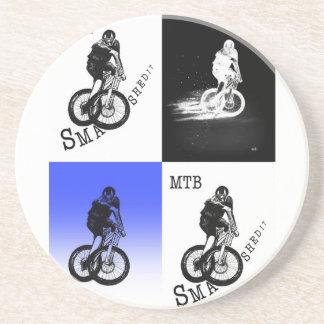 Mountainbiker MTB BMX RADFAHRER Aufkleber Untersetzer