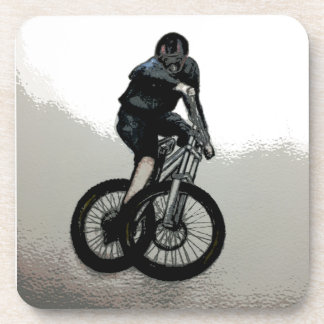 Mountainbiker MTB BMX RADFAHRER Getränkeuntersetzer