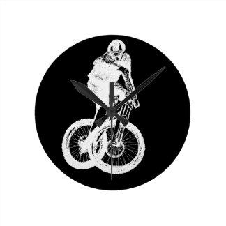 Mountainbiker MTB BMX RADFAHRER Runde Wanduhr