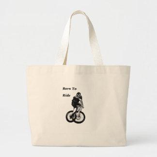 Mountainbiker MTB BMX Zyklo Kreuz RADFAHRERS Jumbo Stoffbeutel