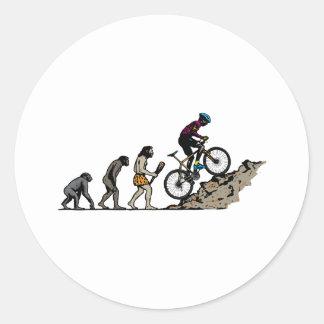Mountainbiker Runder Aufkleber