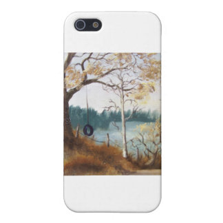 Mountainsee-Baum-Schwingen iPhone 5 Cover