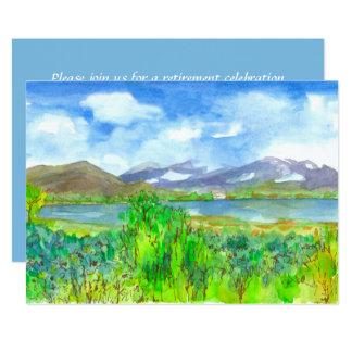 Mountainsee-Malerei-Ruhestands-Party Einladung