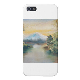 Mountainsee-Reflexionen iPhone 5 Schutzhülle