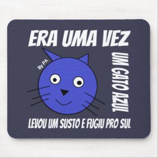 Mousepad Blaue Katze By SCHAUFEL