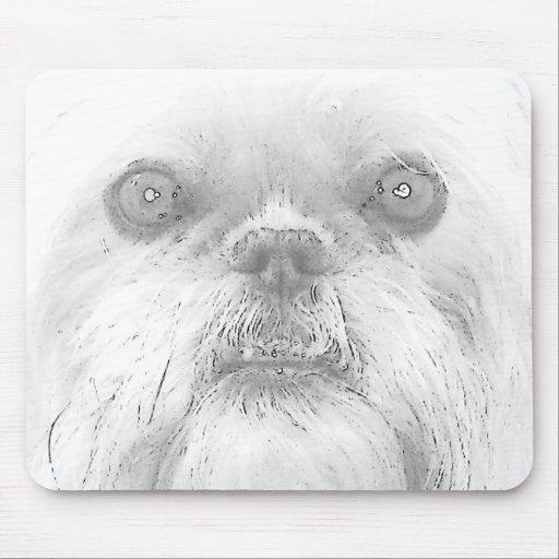 """Mousepad Brüssel Griffon Hund """"Ewok """""""