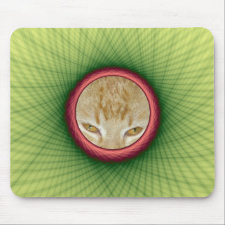 Mousepad gelber und grüner Webart-Rahmen
