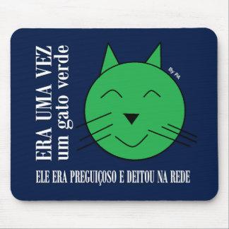 Mousepad Grüne Katze By SCHAUFEL