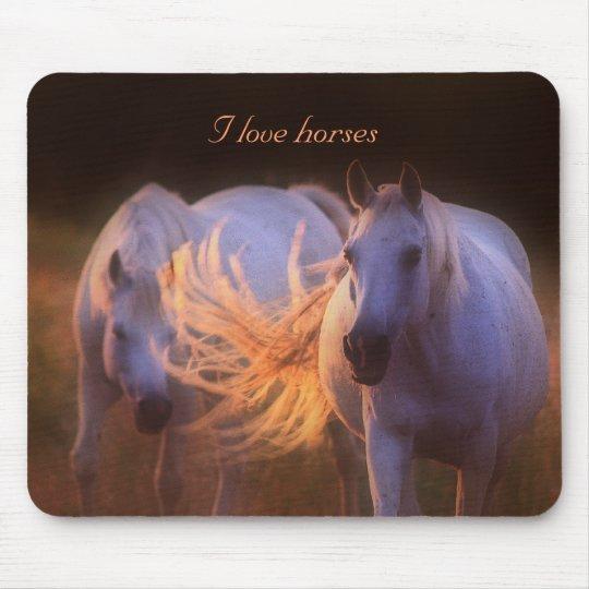 Mousepad - I love horses