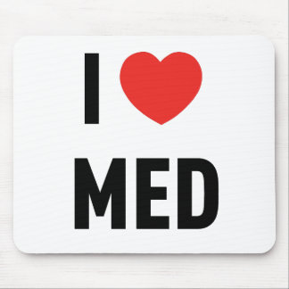Mousepad I Love Med