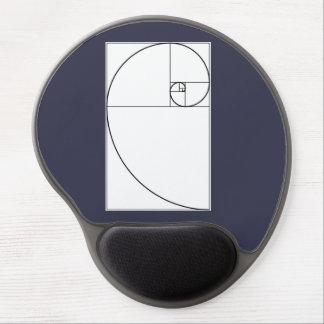 Mousepad mit Fibonacci-Spirale