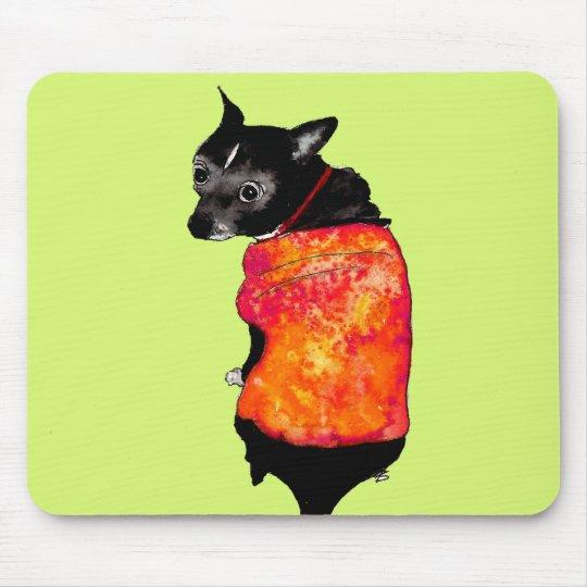 mousepad mit handgemaltem Hund