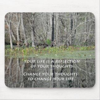 Mousepad mit Natur-Foto und Inspirational Zitat