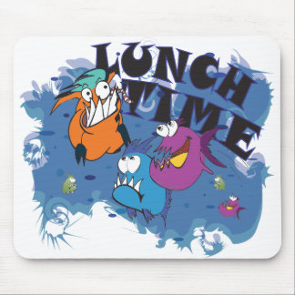 Mousepad Piranha Motiv: Lunch Time