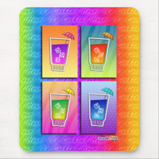 Mousepad - Pop-Kunst-Cocktails