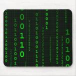 Mousepad Quadrat des binären Codes