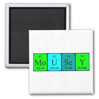 Mousey Periodensystemnamenmagnet Quadratischer Magnet