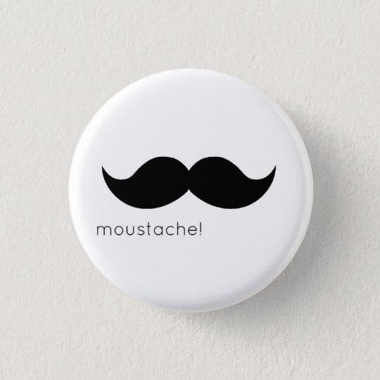 moustache runder button 3,2 cm