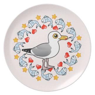 Möven-Kreis der Liebe Teller