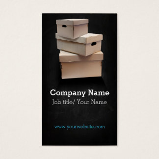 Moving company/Box/Boxes/Cardboard company Visitenkarte
